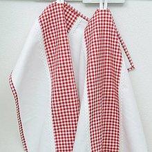 Úžitkový textil - DORKA - červené káro malé - utierka 60x40 - 13039913_