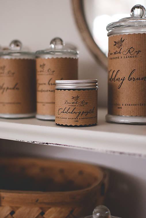 """Svietidlá a sviečky - Sójová sviečka """"Čokoládový pôžitok"""" - 13042103_"""