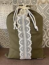 Úžitkový textil - Vojenská zelená - 13041851_