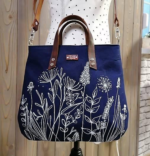 modrotlačová kabelka Ria XL natur AM3