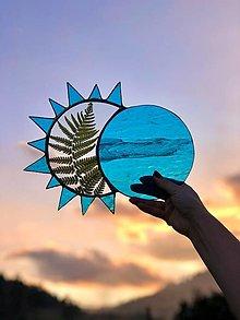 Dekorácie - Lapač slnka s papradím - 13042498_