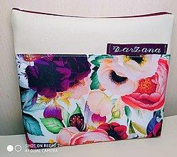 Taštičky - Kozmetická taštička Ruže - 13042415_