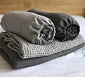 Úžitkový textil - Ľanové plachty s gumičkou - 13041569_