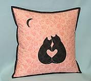 Úžitkový textil - mačičky - láska - 13042614_