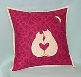 Úžitkový textil - mačičky - láska - 13042616_