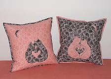 Úžitkový textil - mačičky - láska - 13042620_