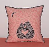 Úžitkový textil - mačičky - láska - 13042623_