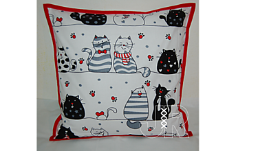 Úžitkový textil - zamilované mačičky - 13040744_