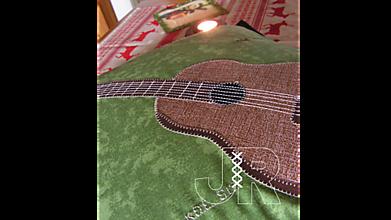 Úžitkový textil - gitara - 13041507_