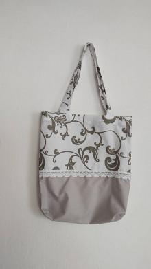 Nákupné tašky - Taška - šedé ornamenty - 13044800_
