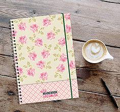 Papiernictvo - MADEBOOK špirálový zápisník A5 - ROMANTIKA - 13043556_