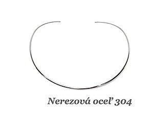 Komponenty - Obruč tvarovaná - Náhrdelník /M5902/ - nerez.oceľ 304 - 13044120_