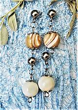 Náušnice - Luxusná perleť - 13047154_