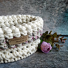 Košíky - Freesia & Ivory | malý háčkovaný košík - 13047022_