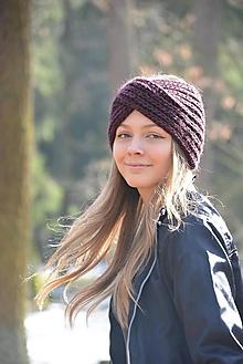 Ozdoby do vlasov - čelenka v švestkové - 13045566_