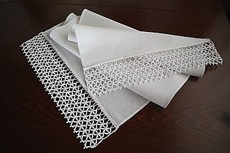 Úžitkový textil - Ľanová štóla - 13046546_