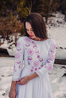 Šaty - Svadobné šaty fialové kvety Vajnory - 13046807_
