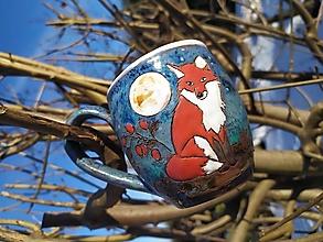 Nádoby - Keramická šálka -líška - 13045703_