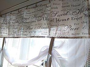 Úžitkový textil - Záclona písmená s vyviazovaním - 13045710_