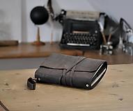 Papiernictvo - kombinovaný kožený zápisník HOT CHOCOLATE - 13046328_