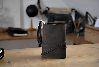 Papiernictvo - kožený midori zápisník  HOT CHOCOLATE - 13044988_