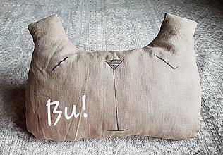 Úžitkový textil - Bu! ľanový vankúšik s levanduľou - 13044085_