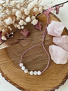 Náramky - Růžový náramek s perletí - 13046748_