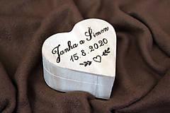 Prstene - Srdiečková krabička na prstene  - 13044781_
