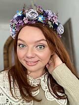 """Ozdoby do vlasov - Kvetinový polvenček """"niečo pošepkám"""" - 13046953_"""