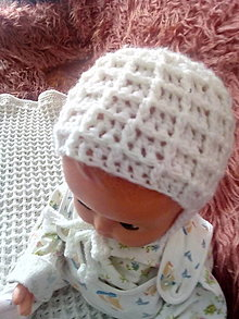 Čiapky - Detská háčkovaná čiapočka pre miminko - 13045902_