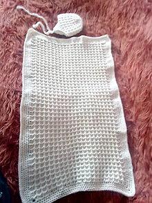 Textil - Háčkovaná detska dečka vaflovým vzorom - 13045977_