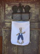 Úžitkový textil - vrecúška zajko + zajkuľka - 13046831_