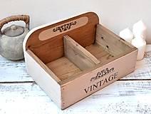 Nábytok - Drevená debnička Vintage - 13044564_