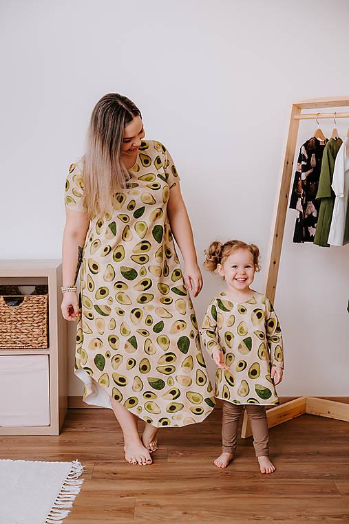 Šaty - Šaty mama - dcéra z GOTS úpletu (set) - 13045780_