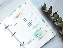 - Náplne do diára/na pracovný stôl pre handmade tvorcov - tlačené náplne do udržateľného diára / Filofax diára - 13052932_