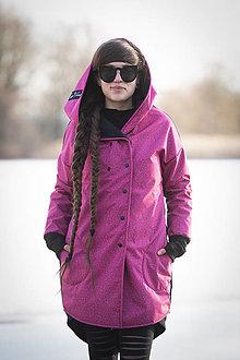 Kabáty - Sshell kabát KALK malina - 13053074_