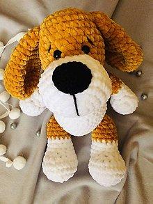 Hračky - Háčkovaný psík - 13048003_