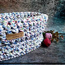 Košíky - Cold Spring   štýlový háčkovaný košík - 13051093_