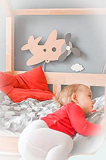 Detské doplnky - Detská drevená lampa - Lietadlo - 13049778_