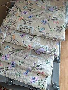 Úžitkový textil - Podsedák levanduľa  na hnedom - 13048475_