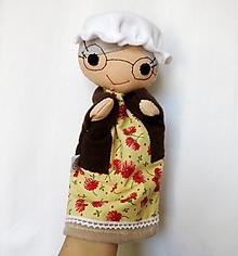 Hračky - Maňuška babička (s čepcom a okuliarmi) - 13047975_