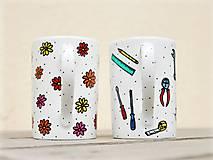 Nádoby - Maľované hrnčeky pre babku a dedka - 13049523_