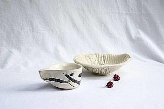 Nádoby - Set keramická miska so šálkou - 13052787_