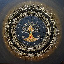 Obrazy - STROM ŽIVOTA (gold-black) 50 X 50 - 13052526_