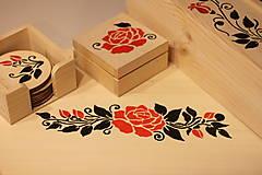 Pomôcky - Svadobný dar štvorsada RUŽA - 13047715_
