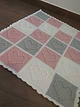 Textil - Deka do kočíka pre dievčatko - púdrová - 13052804_