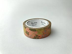 Papier - Washi páska - ružové kvety - 13048549_