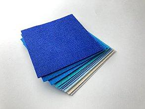 Textil - Filcové štvorce 12 ks - 13048577_