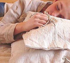 Úžitkový textil - ľanová obliečka na vankúš - 13049371_