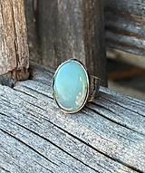 Prstene - Svetlotyrkysový chryzopras - prsteň - 13051501_